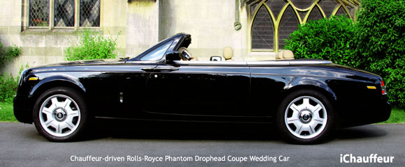 Rolls-Royce Phantom Drophead Coupe wedding chauffeur car